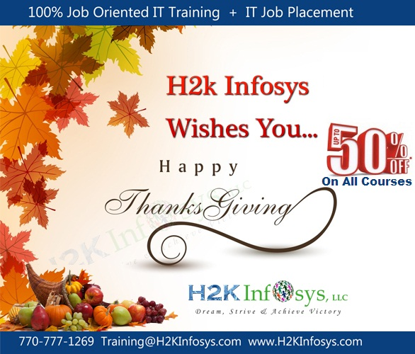 Thanksgiving Day Offer From H2kinfosys!