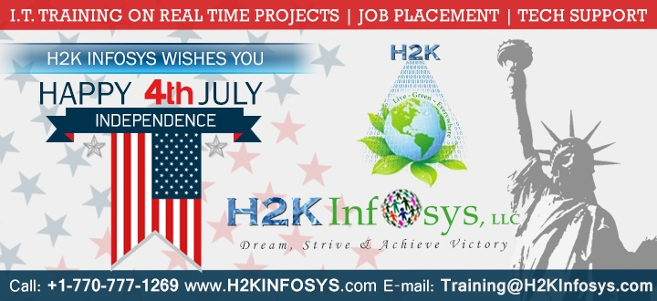 Independence Day 4th July 2015 Offer From H2kinfosys!