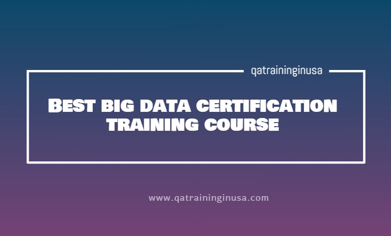 Best big data certification training course